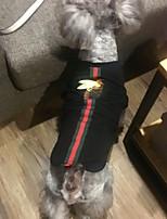 Chien Tee-shirt Vêtements pour Chien Elégant Britannique Noir Noir Costume Pour les animaux domestiques