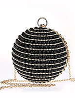 Women Bags ABS+PC Evening Bag Pearl Detailing for Wedding Event/Party All Season Gold Black Silver Red