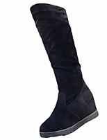 Недорогие -Для женщин Обувь Резина Зима Модная обувь Ботинки Круглый носок Назначение Черный