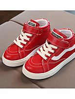 Boys' Shoes Synthetic Microfiber PU Spring Fall Comfort Sneakers For Casual Red Black White