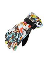 Недорогие -Лыжные перчатки Детские Сохраняет тепло Водонепроницаемость Водонепроницаемый материал Катание на лыжах Пешеходный туризм Велоспорт Зима