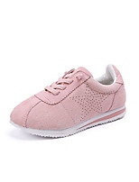 preiswerte -Mädchen Schuhe Echtes Leder Winter Herbst Komfort Sneakers für Normal Grau Armeegrün Rosa