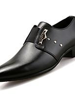 Masculino sapatos Couro Couro Ecológico Primavera Outono Conforto Sapatos formais Oxfords Para Casual Preto Marron