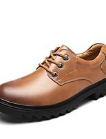 Недорогие -Для мужчин обувь Натуральная кожа Дерматин Весна Осень Удобная обувь Кеды Назначение Повседневные Черный Темно-русый Темно-коричневый