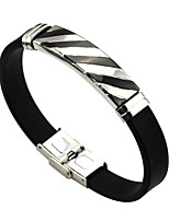 cheap -Men's Women's Link Bracelet , Formal Leather Stainless Line Waves Jewelry For Daily