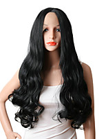 cheap -Women Synthetic Wig Lace Front Long Body Wave Black African American Wig Middle Part Party Wig Cosplay Wig Natural Wigs Costume Wig