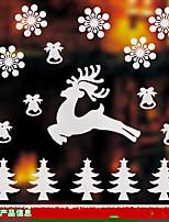 Рождество Наклейки 3D наклейки Декоративные наклейки на стены,Бумага материал Украшение дома Наклейка на стену