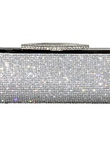 Women Bags Spring, Fall, Winter, Summer All Seasons PU Evening Bag Crystal Detailing for Event/Party Gold Black Silver