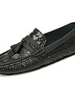 Homme Chaussures Polyuréthane Printemps Automne Confort Mocassins et Chaussons+D6148 Pour Noir Jaune Kaki