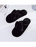 Unisex Shoes Flocking Fall Winter Fur Lining Comfort Slippers & Flip-Flops For Casual Light Pink Pink Green Gray Beige