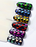 cheap -Diamond Colorful Sequins Shell Colorful Nail Art Decoration 6 pcs/set