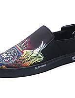 Homme Chaussures Tissu Toute Saison Confort Mocassins et Chaussons+D6148 Pour Décontracté Noir