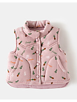 Girls' Floral Down & Cotton Padded Blushing Pink Gray Yellow