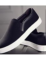 Homme Chaussures Tulle Printemps Automne Confort Mocassins et Chaussons+D6148 Pour Décontracté Blanc Noir