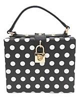 cheap -Women Bags PU Evening Bag Pattern / Print for Wedding Event/Party All Season Black/White