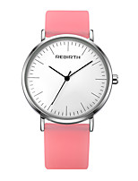 cheap -Women's Casual Watch Fashion Watch Wrist watch Chinese Quartz Water Resistant / Water Proof Silicone Band Casual Elegant Minimalist White