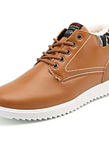 cheap -Men's Shoes PU Winter Comfort Sneakers For Casual Brown Black