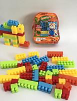 cheap -Building Blocks Toys Elephant Animals Animal Shape 3D Cartoon Animals Family Handbags Cartoon Toy Cartoon Design DIY Kids 34 Pieces