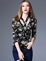 economico -T-shirt Da donna Per uscire Casual Vintage Boho sofisticato Primavera/Autunno,Con stampe Rotonda Poliestere Pantalone lungo Medio spessore