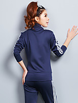 Women's Sports Casual Hoodie Pant Suits,Stripe