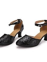 "cheap -Women's Modern Paillette Faux Leather Sneaker Indoor Paillette Customized Heel Black 2"" - 2 3/4"" Customizable"