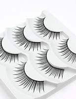 cheap -3 Eyelashes lash Full Strip Lashes Eyelash Natural Long Casual/Daily Handmade Fiber Black Band 0.07mm 11mm
