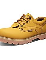 economico -Da uomo Scarpe Finta pelle Autunno Comoda Stivali Sneakers Per Casual Nero Giallo Marrone
