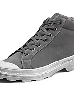 cheap -Men's Shoes PU Spring Fall Comfort Sneakers for Outdoor Black Gray