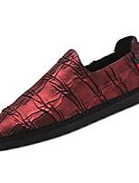 Для мужчин обувь Полиуретан Весна Осень Удобная обувь Мокасины и Свитер Назначение Повседневные Черный Вино