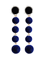 Women's Stud Earrings Drop Earrings Metallic Plush Alloy Round Jewelry For Gift Daily