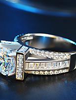 Mulheres Anéis Grossos Anel de noivado Zircônia Cubica Gema Zircônia Cubica Jóias Para Casamento Festa de Noite