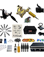 cheap -Professional Tattoo Kit Teampistol 2 Tattoo Machines  Dual Digital  Power Supply Inks Not Included