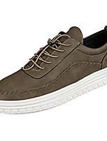 Недорогие -Для мужчин обувь Полиуретан Весна Осень Удобная обувь Кеды Назначение Черный Серый Хаки