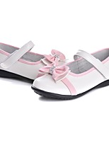 cheap -Girls' Shoes Leather Spring Fall Comfort Light Soles Flats Rhinestone Bowknot for Casual Dress White