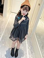 Menina de Vestido Estampado Algodão Poliéster