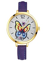 Women's Wrist watch Chinese Quartz Large Dial Alloy Band Casual Elegant Colorful Black White Blue Red Brown Pink Purple Yellow Rose Sky