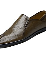Men's Shoes Real Leather PU Spring Fall Moccasin Comfort Loafers & Slip-Ons For Casual Khaki