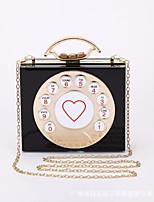 cheap -Women Bags PU Tote Buttons for Casual All Season White Black Blushing Pink Milky White