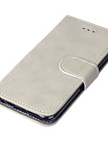 abordables -Coque Pour Apple iPhone X iPhone 8 Porte Carte Avec Support Clapet Coque Intégrale Couleur unie Dur faux cuir pour iPhone X iPhone 8 Plus