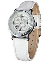abordables -FORSINING Mujer Reloj Casual Reloj de Moda Reloj de Pulsera Cuerda Automática Cuero Auténtico Banda Casual Cool