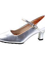cheap -Women's Modern Leatherette Full Sole Sneaker Professional Chunky Heel Purple Silver Black Gold