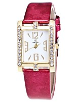 Women's Wrist watch Chinese Quartz Imitation Diamond PU Band Casual Black White Blue Red Brown Pink Navy