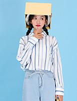Camicia Da donna Casual Attivo A strisce Colletto Cotone Manica lunga
