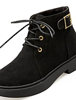 cheap -Women's Shoes PU Winter Comfort Fashion Boots Boots Round Toe Booties/Ankle Boots For Casual Office & Career Black