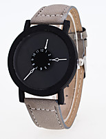 cheap -Women's Fashion Watch Quartz Leather Band Casual Black Blue Green Grey Purple