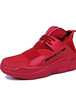 cheap -Men's Shoes PU Spring Fall Light Soles Sneakers For Casual Black/White Red Black
