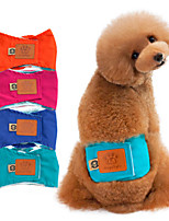 Dog Pants Cotton Blend Diapers Dog Clothes Well-ventilated Casual/Daily Solid Orange Green Blue Pink Costume For Pets