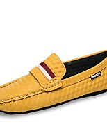 Men's Shoes Knit Suede Spring Fall Moccasin Loafers & Slip-Ons For Casual Khaki Yellow Black