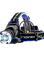 GELE044AB Headlamps Headlight lm 4 Mode XM-L2 T6 with Batteries Zoomable Professional Camping/Hiking/Caving Everyday Use Cycling/Bike