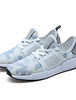 Men's Shoes Tulle All Season Fall Light Soles Sneakers For Casual Blue Green White